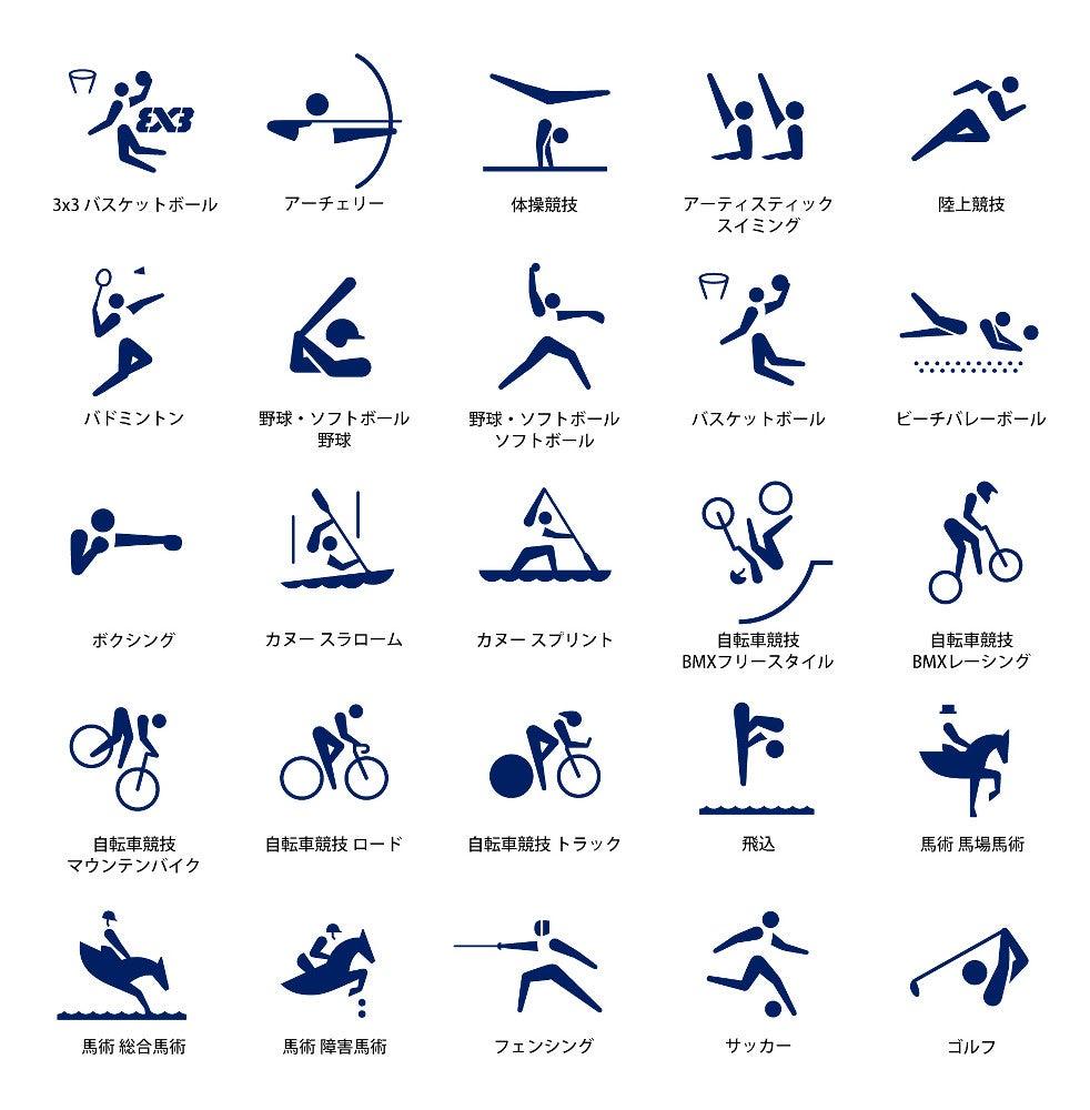 2020年東京五輪 競技ピクトグラム(1)
