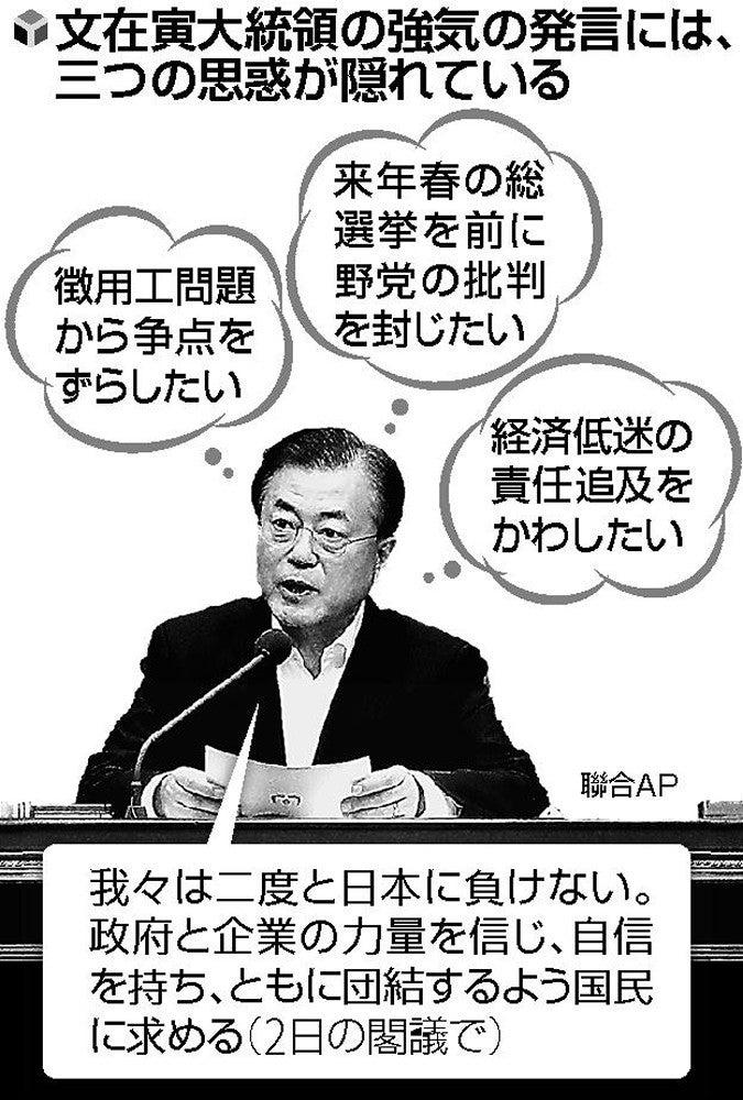 求心力向上狙う文大統領「二度と日本に負けない」 : 国際 : ニュース ...