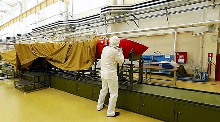 爆発した新型兵器との見方が強まっている原子力推進式巡航ミサイル「ブレベスニク」(露国防省が昨年公開した映像より)