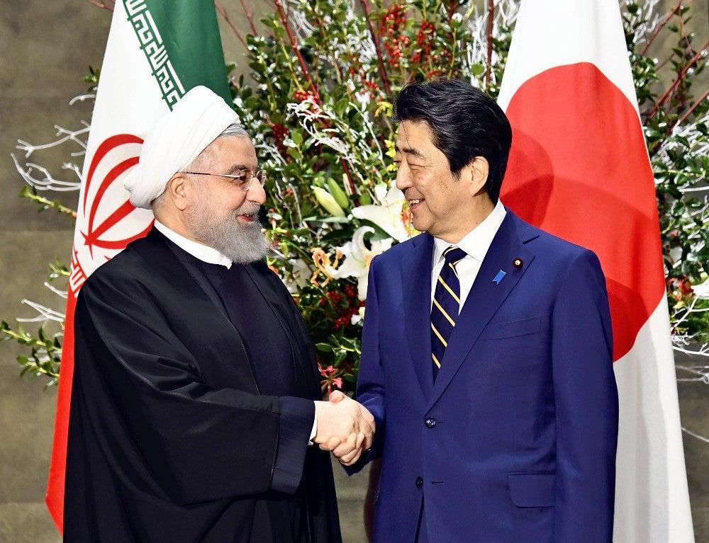 来日したイラン大統領、海自中東派遣「日本の意図を理解する」…安倍 ...