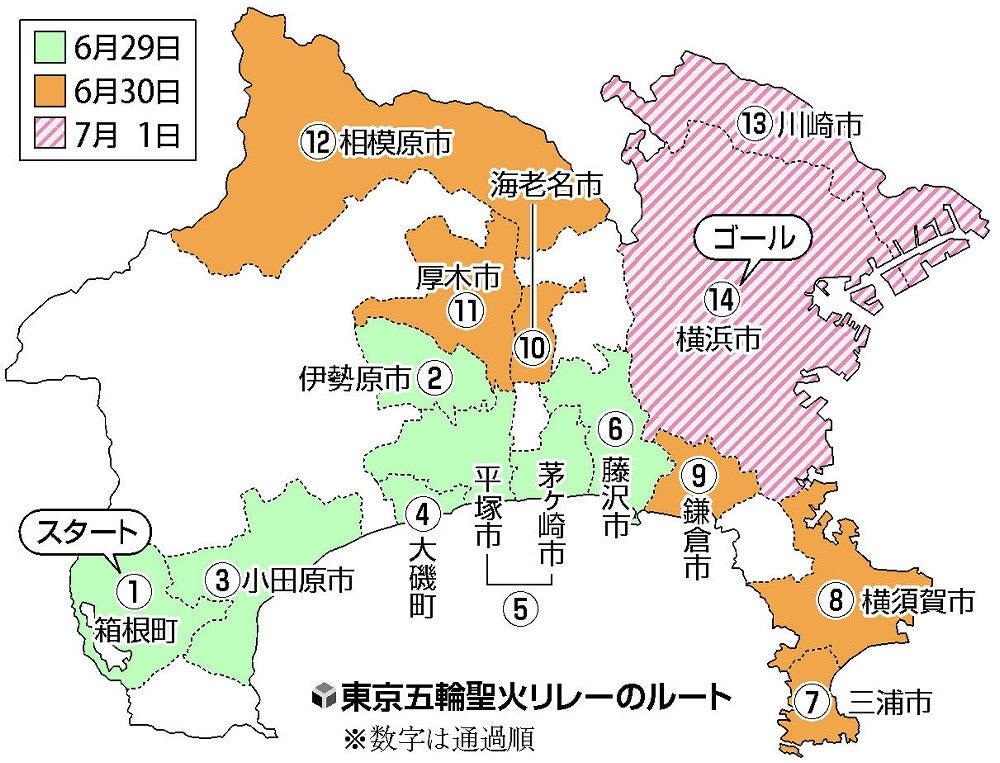聖火 リレー 神奈川 県