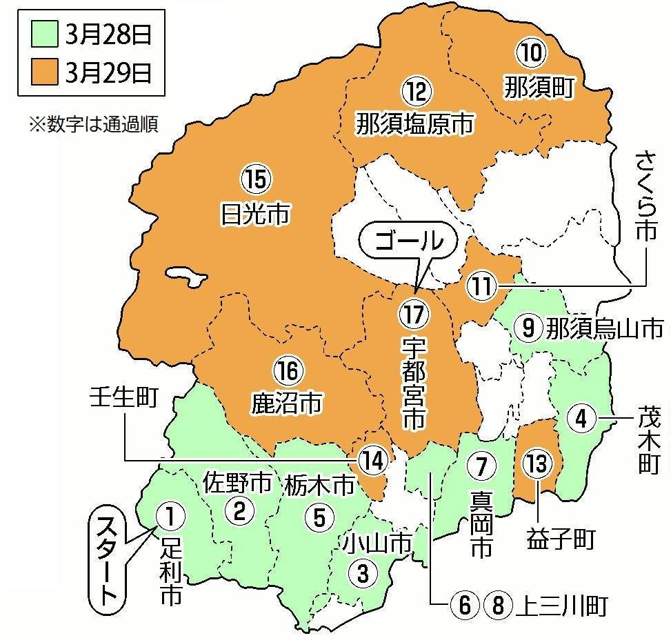 栃木 県 聖火 ランナー