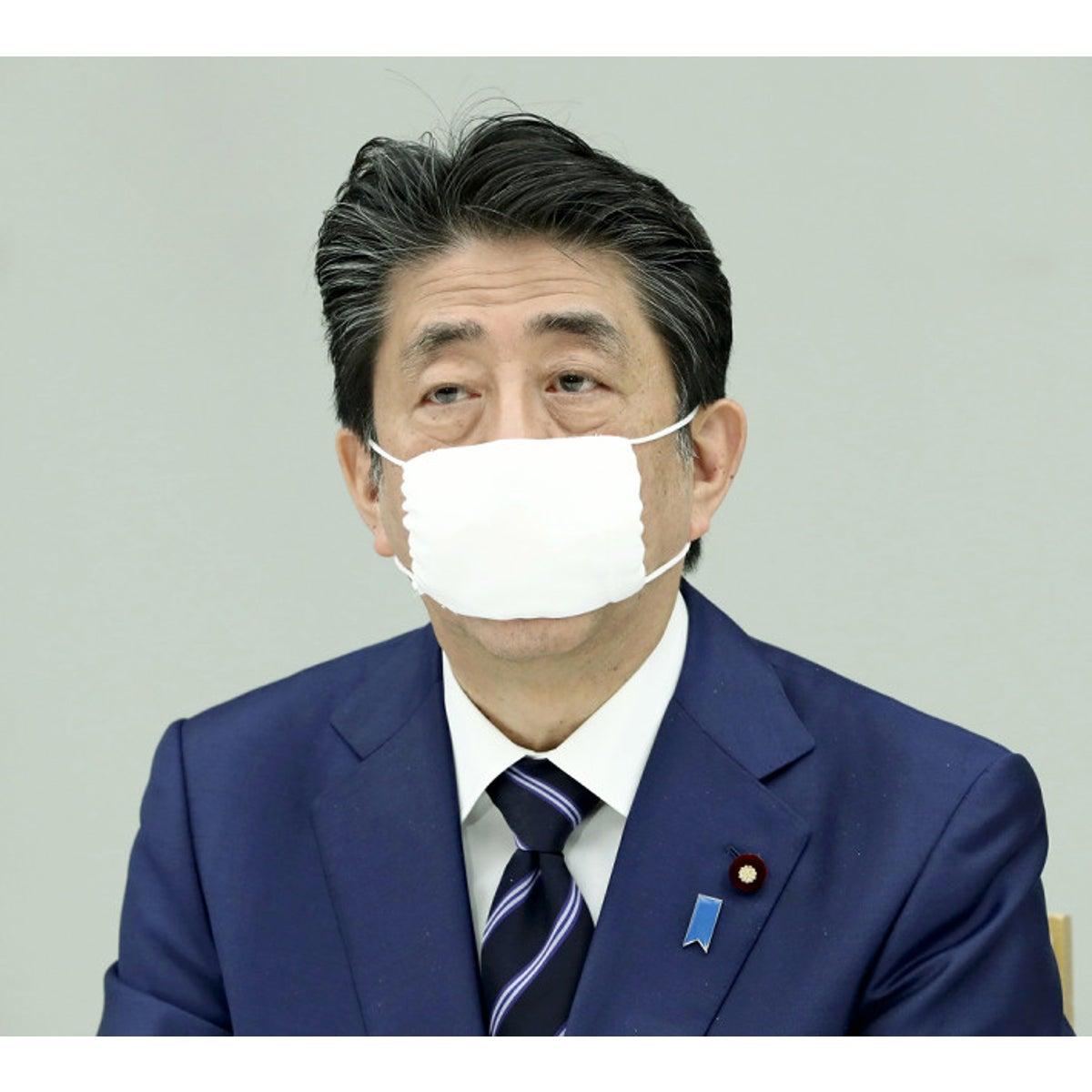 マスク 安倍 1住所当たり2枚の布マスクを配布の方針 安倍首相
