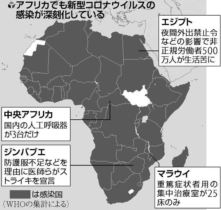 コロナ 者 アフリカ 感染