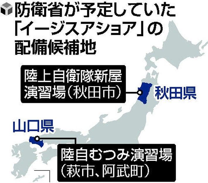 イージス、秋田の候補地への配備断念…25年運用開始ずれ込みか : 政治 ...