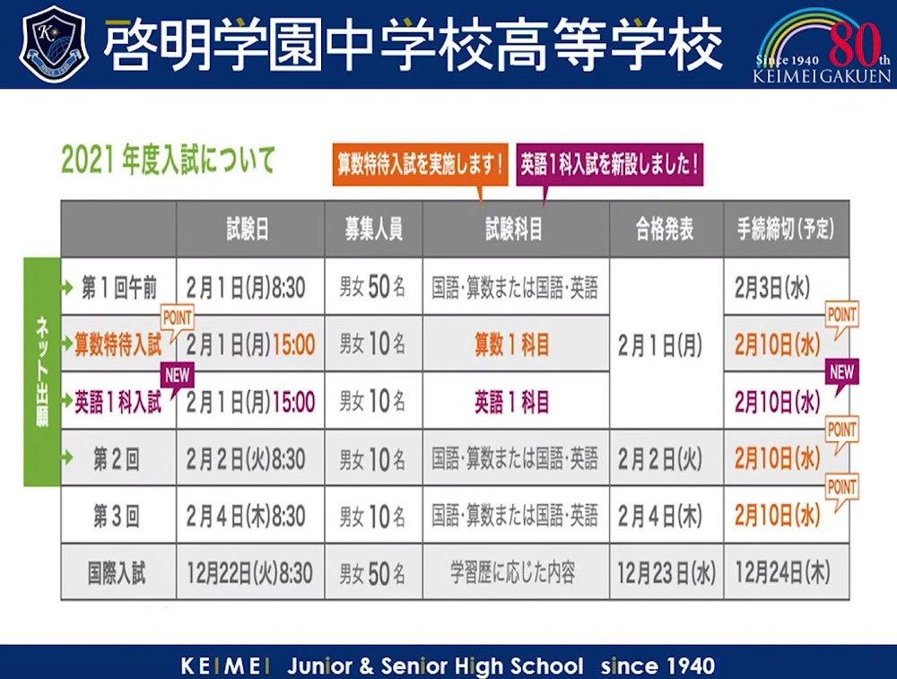 ホームページ 啓明 中学校