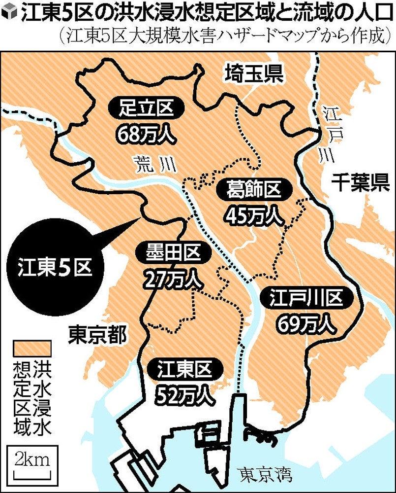 独自】都内東部5区の水害時、自衛隊が迅速な出動計画…最大250万人 ...