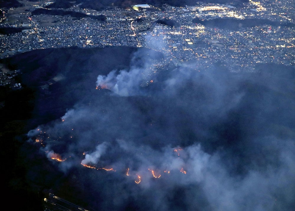 桐生 山 火事