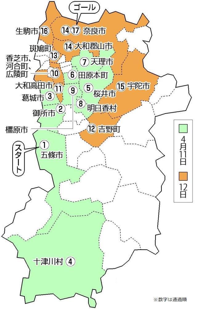 聖火リレー】奈良県の日程とコース : 東京オリンピック2020速報 ...