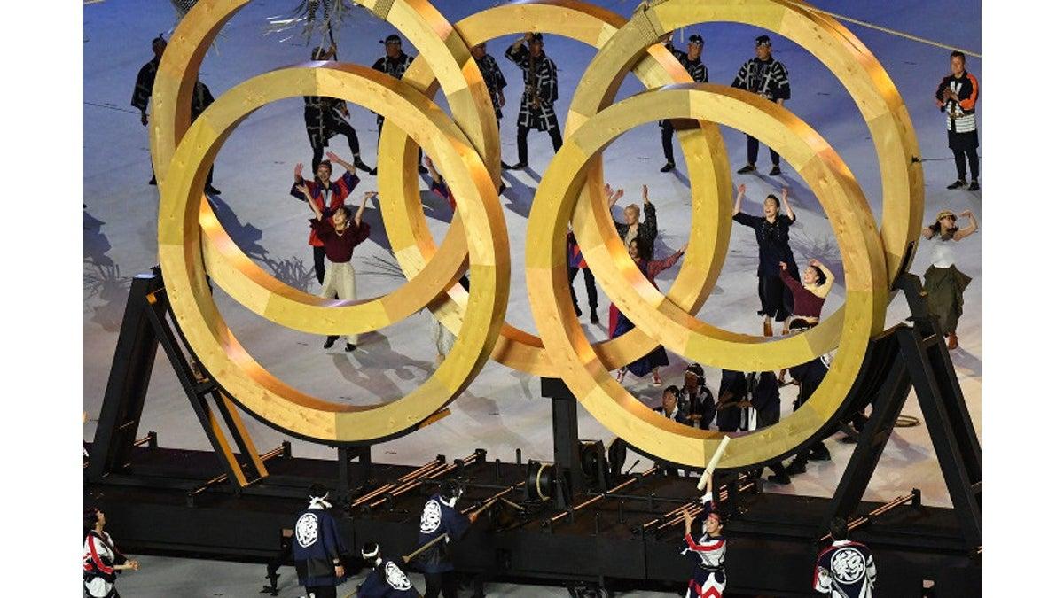 寄木細工風オリンピックシンボル