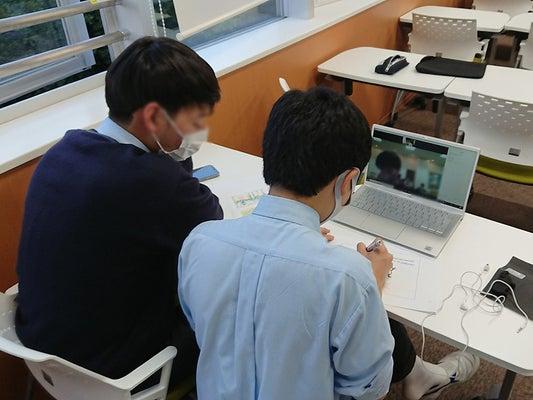オンラインで実施した「寺子屋子ども食堂・英語学習支援」